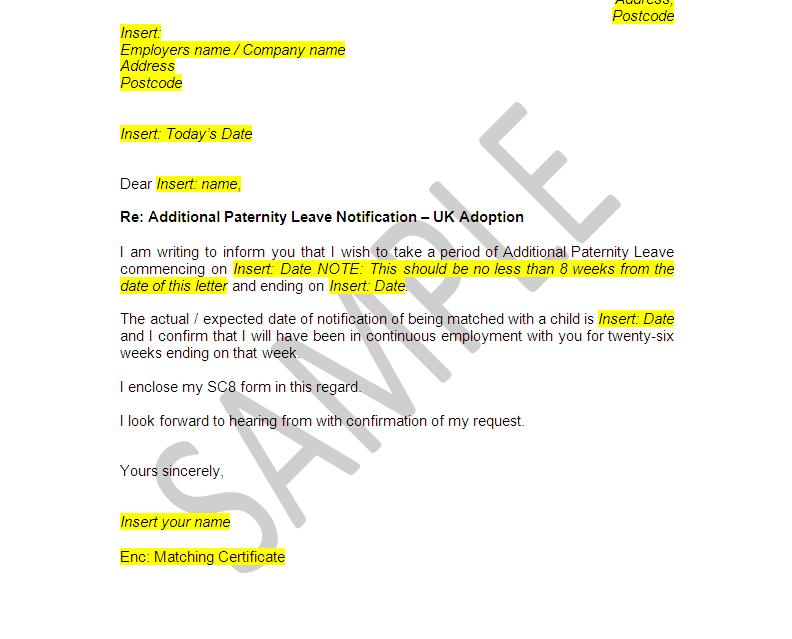 Additional adoption paternity leave documents employee pack view sample spiritdancerdesigns Image collections