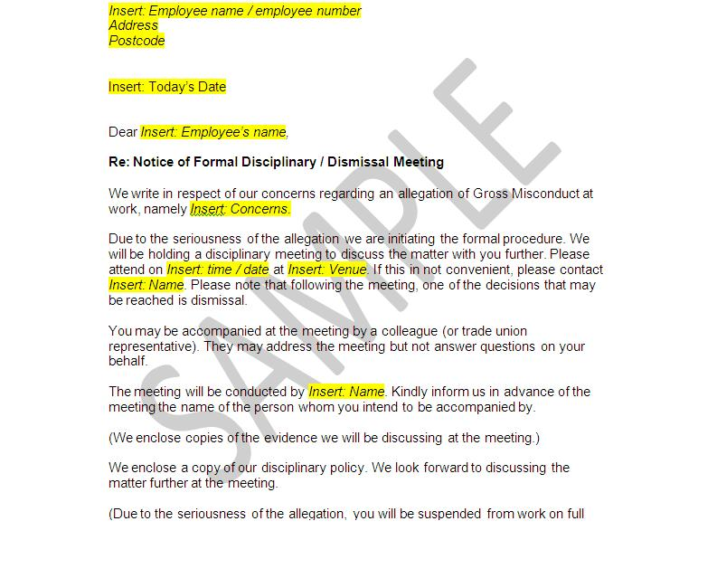 Sample Appeal Letter For Termination Of Employment from www.thelegalstop.co.uk