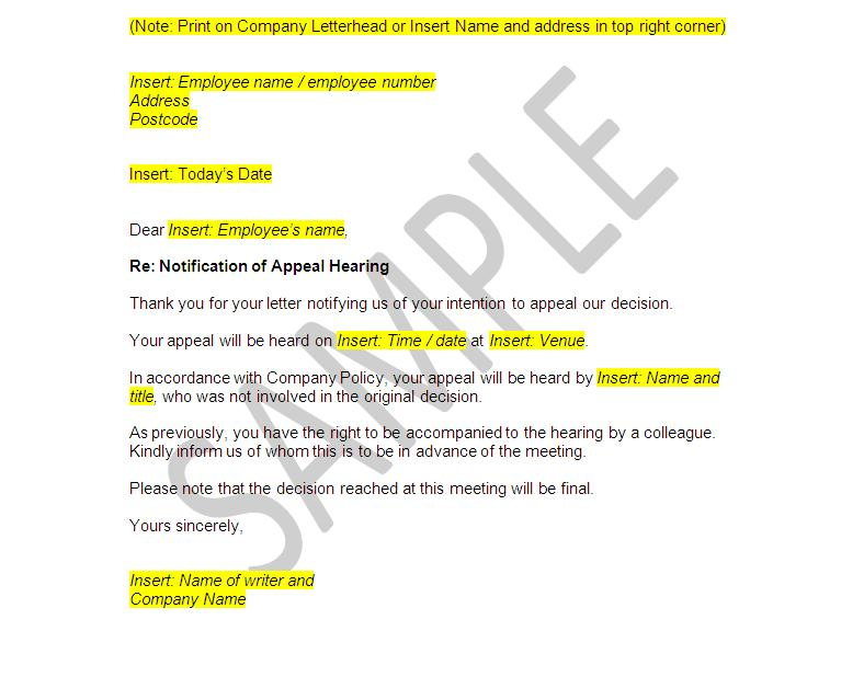 How To Write A Grievance Appeal Letter Image collections - Letter ...