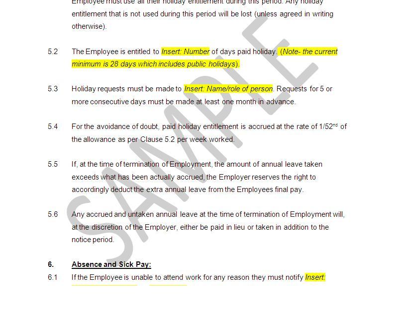employment termination notice sample