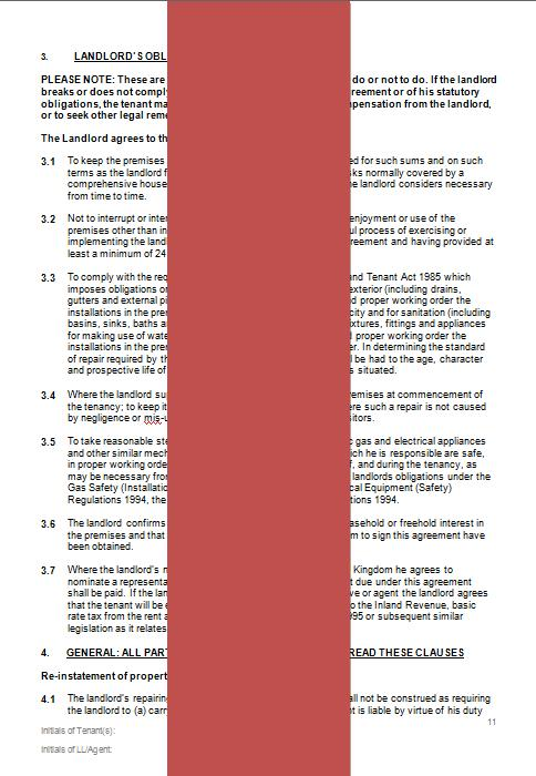 uk tenancy agreement template .