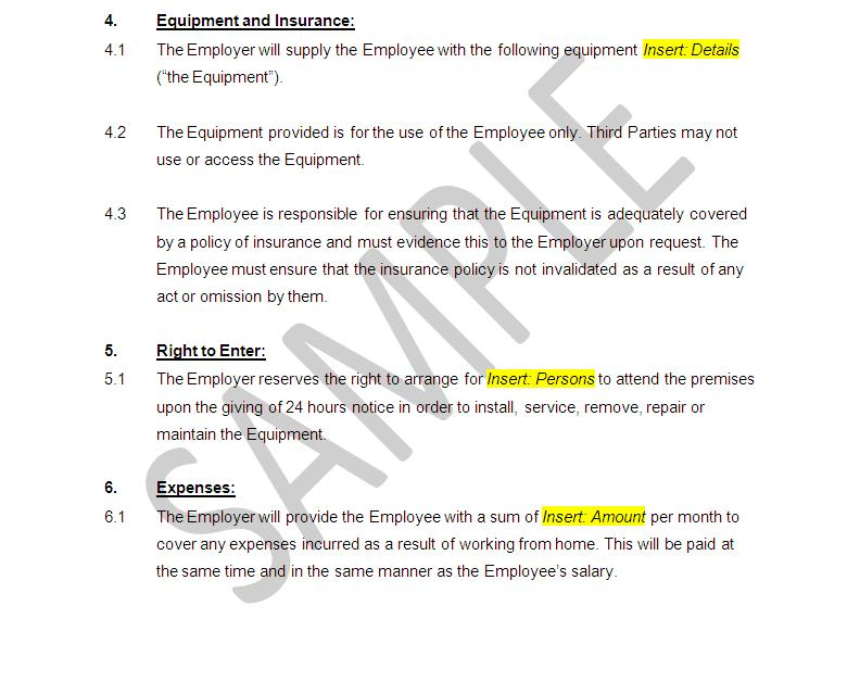Employment Contract template Home Worker – Job Contract Template