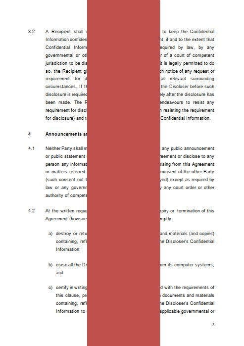 Mutual NonDisclosure Agreement Confidentiality Agreement Template